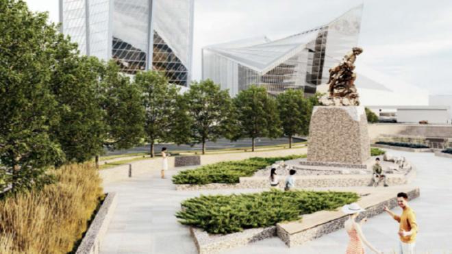"""У """"Лахта Центра"""" хотели установить воссозданный памятник Петру I"""