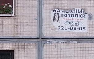 Самодельная реклама на зданиях, на ул. Софьи Ковалевской