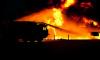 В Петродворцовом районе ярким пламенем горела баня в мужском монастыре