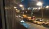 На Большеохтинском таксист ночью сбил ведосипедиста