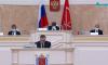 Александр Беглов выступил перед парламентом без маски