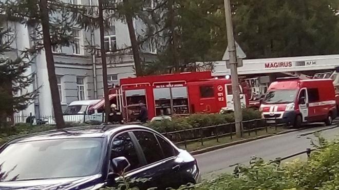 Пожар в Университете МВД в Пушкине: огонь удалось локализовать