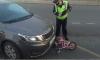 На севере Петербурга маленькая велосипедистка попала под колеса иномарки
