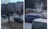 На Бестужевской улице прорыв трубы стал красивым фонтаном