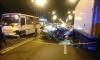 Иномарка протаранила маршрутку на Искровском проспекте: водитель легковушки погиб