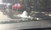 Садовую перекрыли из-за крошечного фонтана на проезжей части
