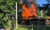 В Мурино загорелся деревянный дом