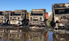 Ночью в Московском районе сгорели 4 грузовика