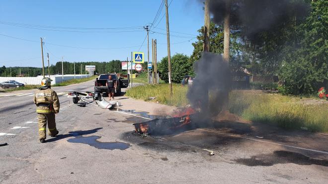 В Приозерском районе взорвался гидроцикл