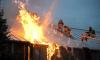 Во Всеволожском районе ночью загорелся частный дом