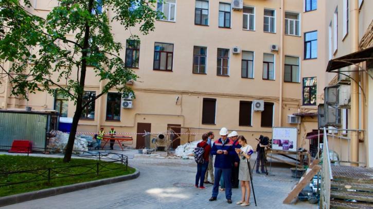 Жилищный комитет провёл мониторинг работ по объектам капитального ремонта в Петроградском районе