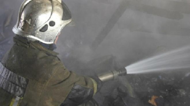 Ночью в Пушкине сгорел амбар с сеном