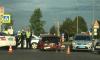 В Колпино ВАЗ таранил машину дорожной полиции
