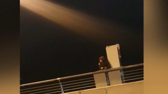 Полицейские спасли мужчину от падения с Яхтенного моста