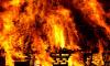 В Приозерском районе почти четыре часа горел дом, пока его не потушили пожарные