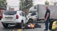 Фото: в Невском районе иномарка влетела в мотоциклиста