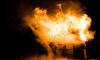 Пожарные меньше часа тушили частный дом в Рощино