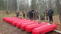 58 останков бойцов и командиров Красной армии перезахоронили на мемориале «Петровка»