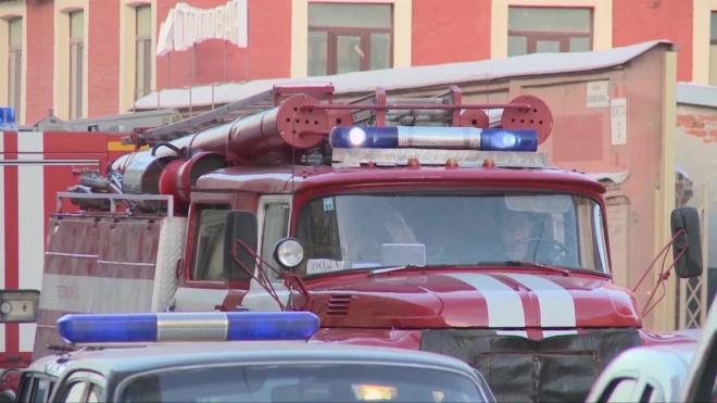 На территории железнодорожного депо в Петро-Славянке тушат пожар