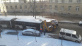 Авария с участием трактора перекрыла движение по улице П...