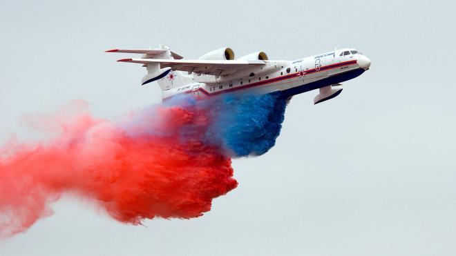 Самолет-амфибия Бе-200 примет участие в параде ВМФ