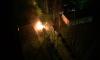 Жуткие кадры из Петербурга: на Тихорецком дотла выгорели две иномарки