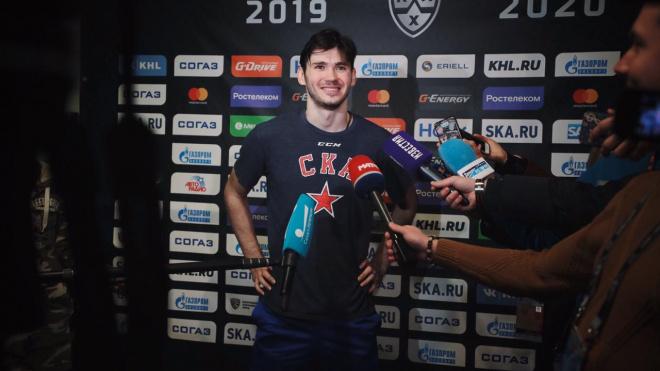 Нападающий СКА Кирилл Марченко прокомментировал решение КХЛ отменить сезон