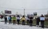 Защитники парка на Смоленке устроили пикет против строительства апарт-отелей на Васильевском