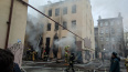 Очевидцы: На Лиговском загорелся заброшенный дом