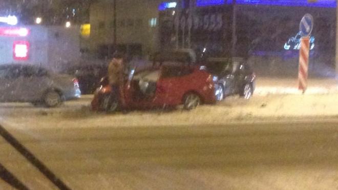 В ДТП на Руставели пострадал пассажир автомобиля