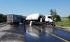 Водитель фуры уснул за рулем и протаранил колонну МЧС в Тульской области