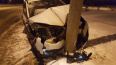 На Озерковой улице делимобиль врезался в столб: водитель ...