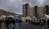 Шторм разрушил рынок на проспекте Большевиков: пострадали три человека
