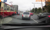Во Фрунзенском районе автоледи столкнулась с трамваем