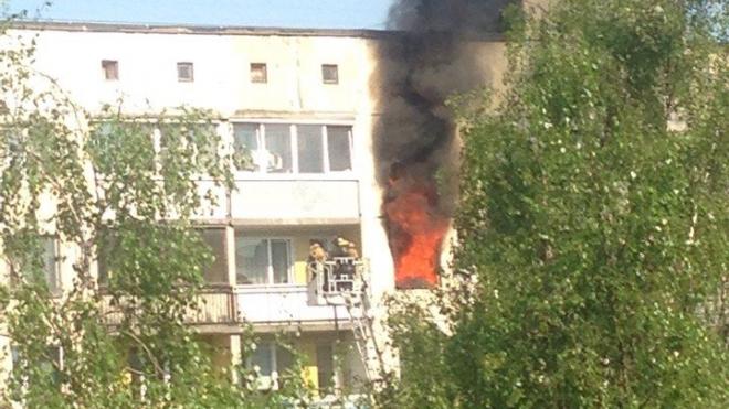 На Купчинской улице горел многоэтажный жилой дом