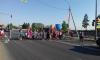 Женщины с детьми устроили акцию протеста на Выборгском шоссе