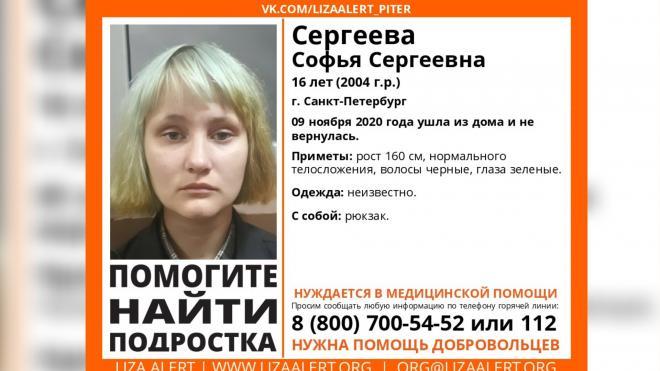В Петербурге и Калужской области ищут 16-летнюю девушку