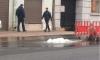 Появилось фото прорыва трубы на Измайловском проспекте