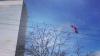 Парашютист спрыгнул с башни Leader Tower на площади ...