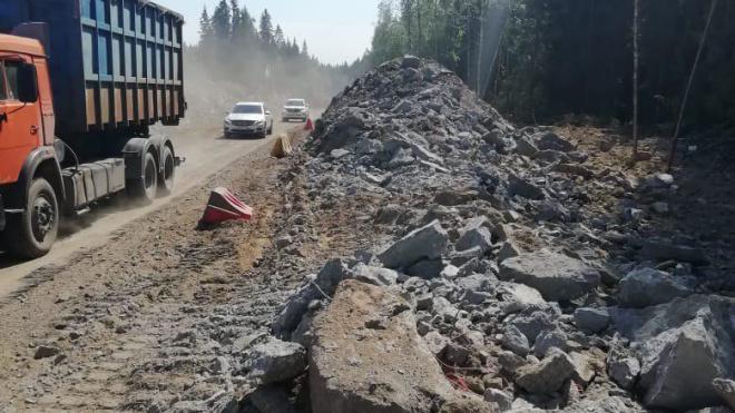 """На 30-м километре трассы """"Скандинавия"""" обвалились скалы"""