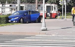 На перекрестке Культуры и Луначарского столкнулись два автомобиля