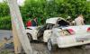 В Куйбышеве иномарка сбила пешехода и врезалась в ЛЭП. Пешеход и пассажир погибли.