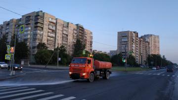 В Петербурге за прошлую неделю дорожные службы вывезли ...