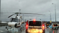 """На КАДе у """"Мега Парнас"""" вертолет забрал пострадавшего ..."""