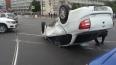 На перекрестке Бухарестской и Салова Chevrolet перевернул ...