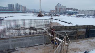 На Приморском шоссе строят временную эстакаду