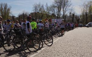 Фотофакт: финиш международного велопробега в Выборге