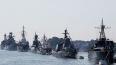 Корабли, участвовавшие в параде ВМФ, отправляются ...