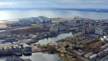 Намывная зона на западе Васильевского острова представляет опасность для исторического центра Петербурга
