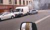 На Римского-Корсакова от удара загорелся автомобиль
